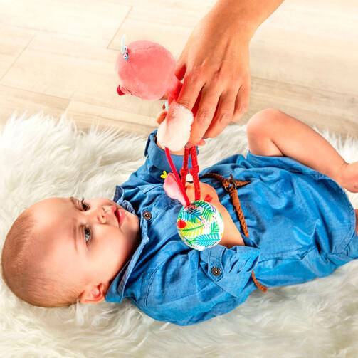 Ручная игрушка-погремушка Lilliputiens фламинго Анаис  (арт. 83056)