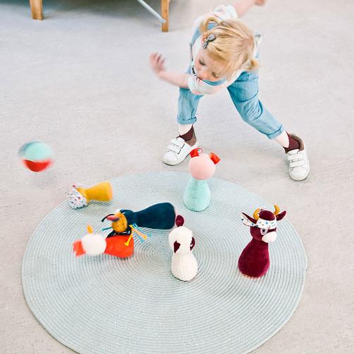 Набір для дитячого боулінга Lilliputiens Ферма (new)  (арт. 83159)