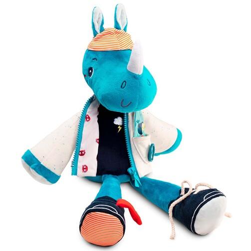 Розвиваюча іграшка Lilliputiens носоріг Маріус вчить одягатися  (арт. 83177)