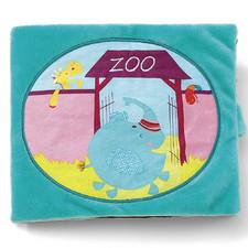 Мягкая книга Lilliputiens Альберт в зоопарке - Мягкая книга Lilliputiens  (арт. 86610)