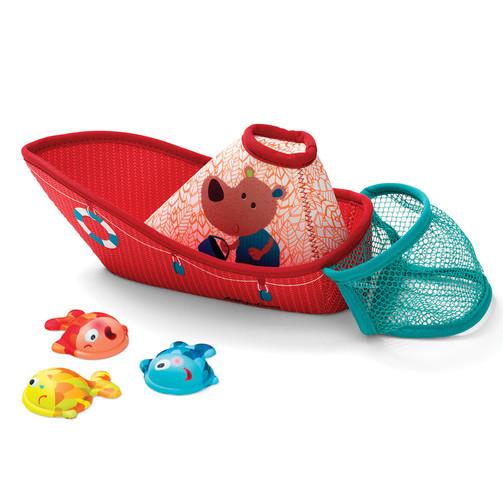 Игрушка для ванны Lilliputiens Рыбацкая лодка  (арт. 86773)