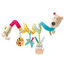 Спиральная игрушка на коляску Lilliputiens медведь Цезарь - Спиральная игрушка на коляску Lilliputiens  (арт. 86867)