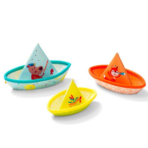 Игрушка для ванны Lilliputiens три маленьких кораблика  (арт. 86772)
