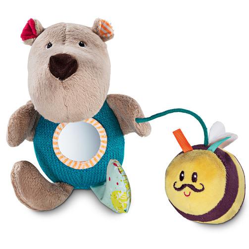 Ручная игрушка-погремушка Lilliputiens медведь Цезарь  (арт. 83027)